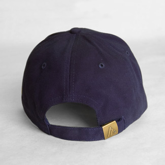 back of a navy blue baseball hat