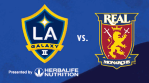 LA Galaxy II logo vs Real Monarchs logo