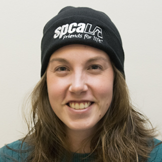 spcaLA black beanie front view