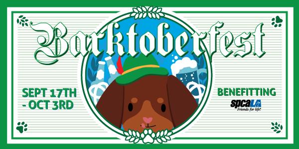 Illustrated dog promoting event- Barktoberfest