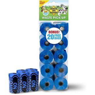blue poop bags