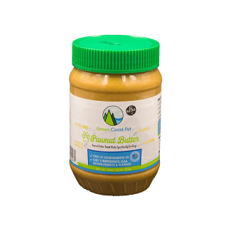 jar of pawnut butter for dogs