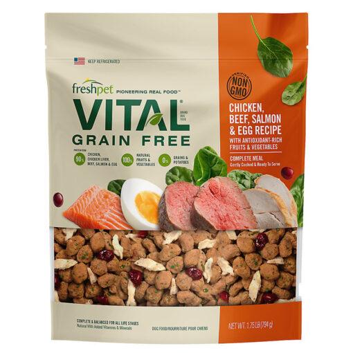 Freshpet® Vital™ Grain Free Complete Meals Chicken, Beef, Salmon & Egg Adult Dog Food 1.75