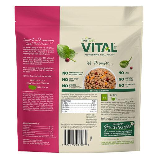 Freshpet Vital Grain-Free Chicken Small Breed Dog Food Back