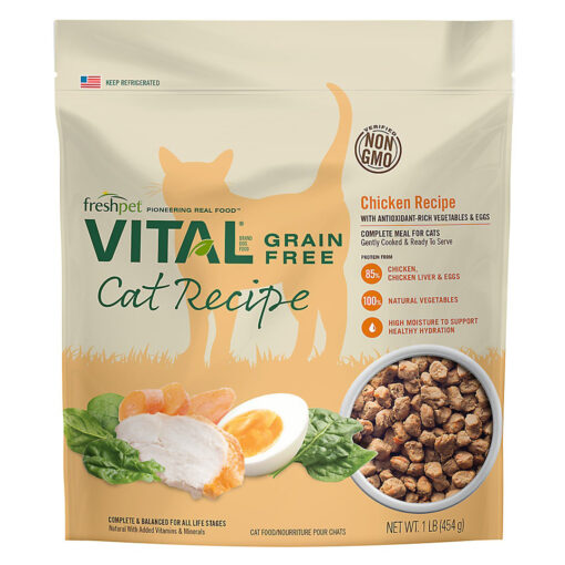 Freshpet Vital Grain Free Complete Meals Adult Cat Food 1 LB
