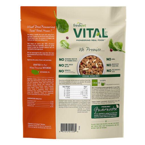 Freshpet Vital Grain Free Complete Meals Chicken, Beef, Salmon & Egg Adult Dog Food 1.75 Back