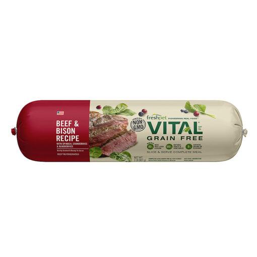 Freshpet VitalGrain Free Beef & Bison Adult Dog Food 2 LB