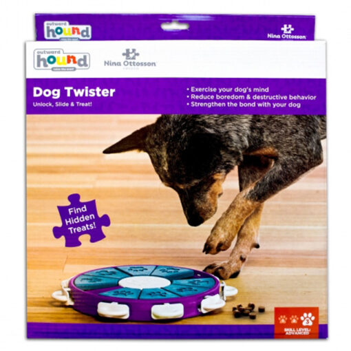 Outward Hound Purple Twister Purple Puzzle Dog Toy Large Box
