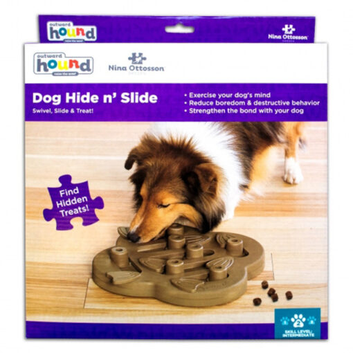 Outward Hound Tan Hide N Slide Puzzle Large Box