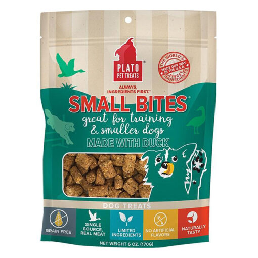 Plato Small Bites Duck Grain-Free Dog Treats