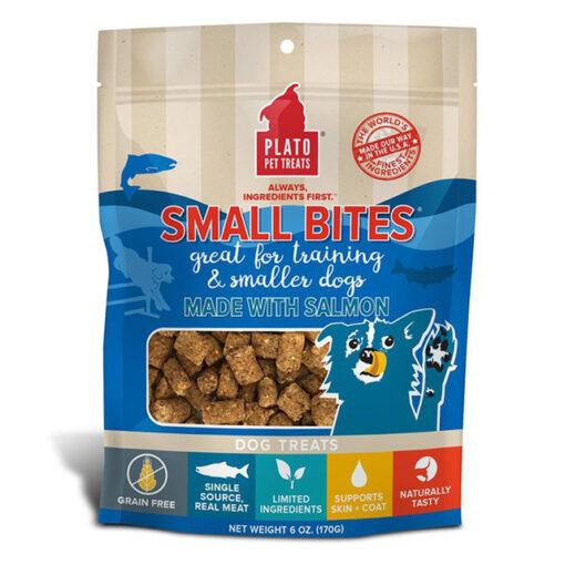 Plato Small Bites Salmon Grain-Free Dog Treats