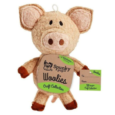 Spunky Pup Woolies Pig Dog Toy