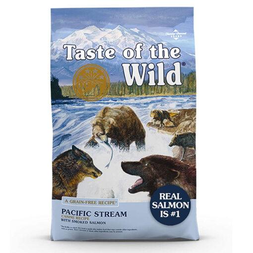 Taste of the Wild Pacific Stream Grain-Free Smoked Salmon Dry Dog Food, 28 lbs.