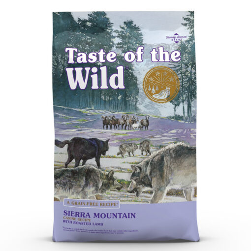 Taste of the Wild Sierra Mountain Grain-Free Roasted Lamb Dry Dog Food, 28 lbs.