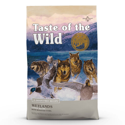 Taste of the Wild Wetlands Grain-Free Roasted Duck Dry Dog Food, 28 lbs.