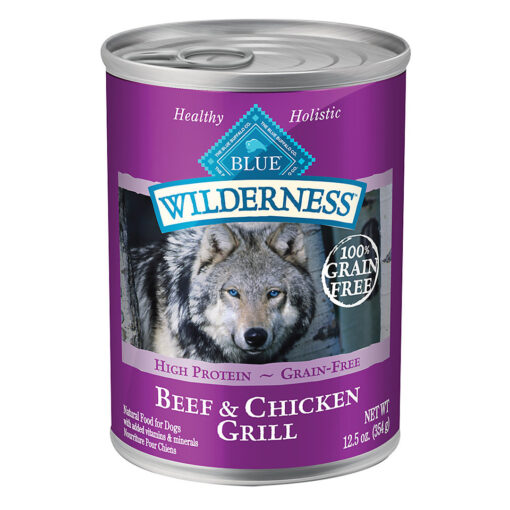 Blue Buffalo Blue Wilderness Dog Natural Beef & Chicken Grill Can 12-5oz Front