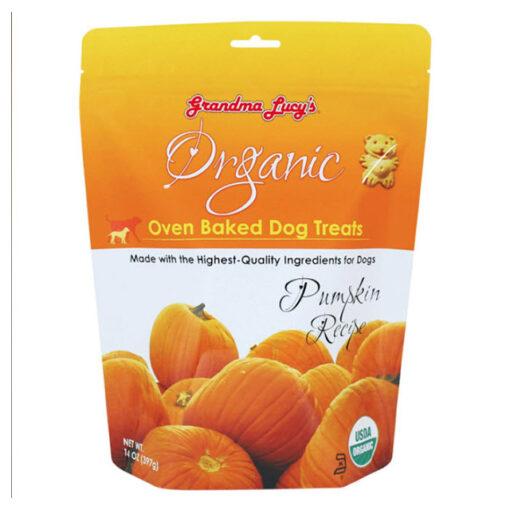 Grandma Lucy's Organic Oven Baked Dog Treat Pumpkin Front