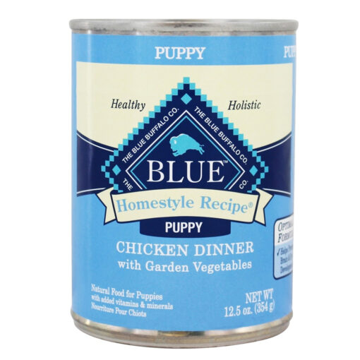Homestyle Puppy Chicken Dinner with Garden Vegetables and Brown Rice Recipe Canned Dog Food 12-5oz