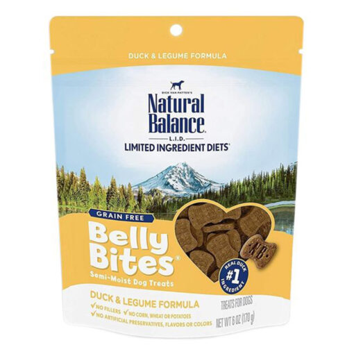 Natural Balance Belly Bites Duck and Legume Grain Free Dog Treats 6oz Front