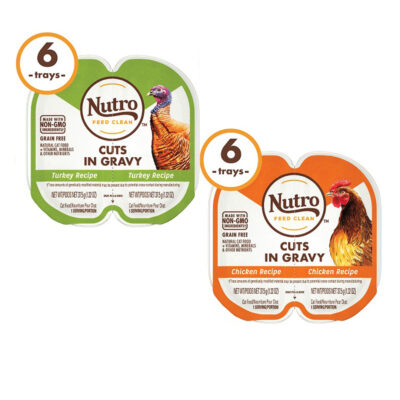 Nutro Turkey & Chicken Cuts Gravy Recipe Cat 2-65oz 12 twinpk