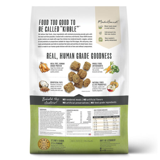 The Honest Kitchen Grain-Free Chicken Whole Food Clusters Dry Dog Food 1LB Back