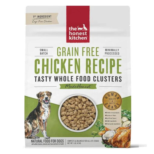 The Honest Kitchen Grain-Free Chicken Whole Food Clusters Dry Dog Food 1lb Front