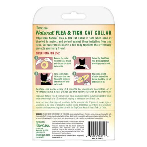 TropiClean Natural Flea & Tick Repellent Collar Cats Back