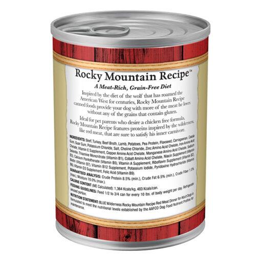 Blue Buffalo Wilderness Rocky Mountain Recipe Grain Free Adult Dog Food Back