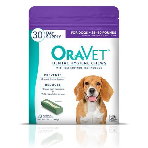 OraVet Dental Care Hygiene Chews for Dogs 25_50 lbs