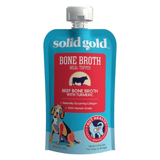 Solid Gold Beef Bone Broth with Turmeric Topper, 8 oz
