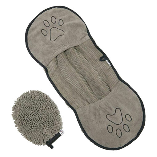Dirty Dog Cleaning Crew Shammy Mitt Pet Grooming Kit