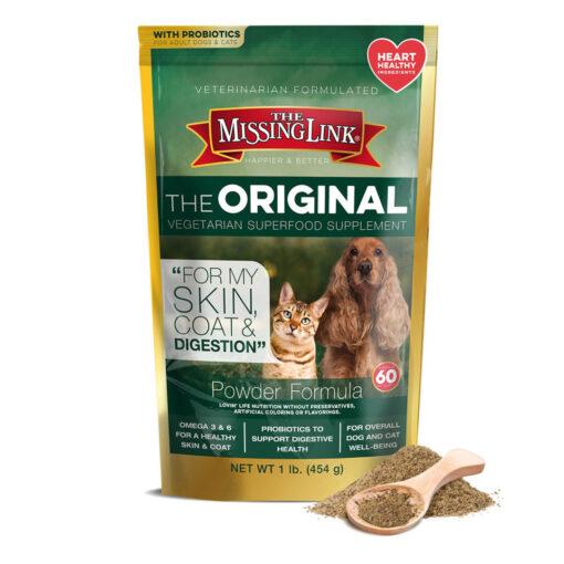 Missing Link Original Vegetarian Superfood Supplement for Dogs Cats 1 LB
