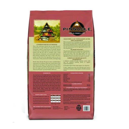 Pinnacle Salmon & Pumpkin Recipe Grain-Free Dry Dog Food 24lb back