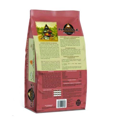 Pinnacle Salmon & Pumpkin Recipe Grain-Free Dry Dog Food 4lb Back