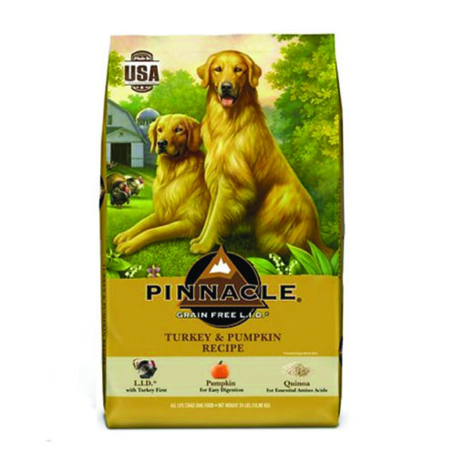 Pinnacle Turkey & Pumpkin Recipe Grain-Free Dry Dog Food 24lb Front