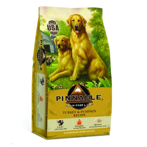Pinnacle Turkey & Pumpkin Recipe Grain-Free Dry Dog Food 4lb Front