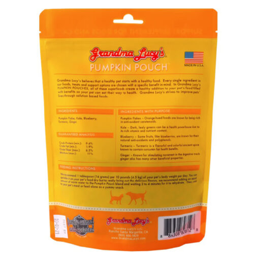 GRANDMA LUCY'S PUMPKIN POUCH INFLAMATION 6OZ back