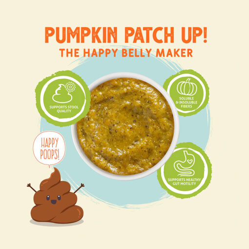 Pumpkin Patch up! The Happy Belly Maker Supports Stool Quality
