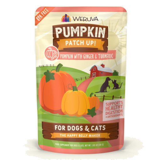 Weruva Pumpkin Patch Up! Pumpkin Ginger Turmeric DogCat Food Supplement 1-05 OZ