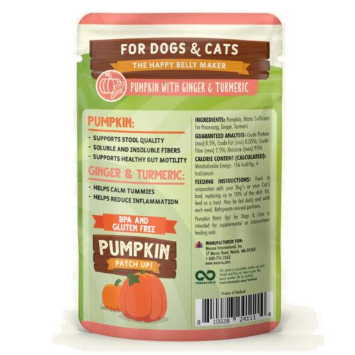 Weruva Pumpkin Patch Up! Pumpkin Ginger Turmeric DogCat Food Supplement 1-05 OZ back