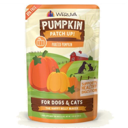 Weruva Pumpkin Patch Up Pumpkin Puree DogCat Food Supplement Pouches 2-8 OZ