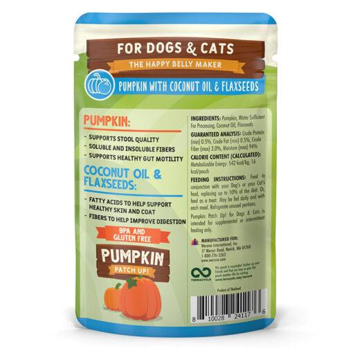 Weruva Pumpkin Patch Up! Pumpkin with Coconut Oil Flaxseeds DogCat Food Supplement 1-05 OZ back