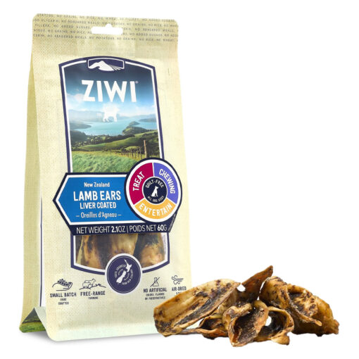 Ziwi Lamb Ears Liver Coated Dog Treats 2.1oz