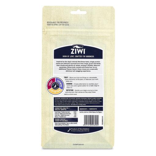 Ziwi Lamb Ears Liver Coated Dog Treats 2.1oz back
