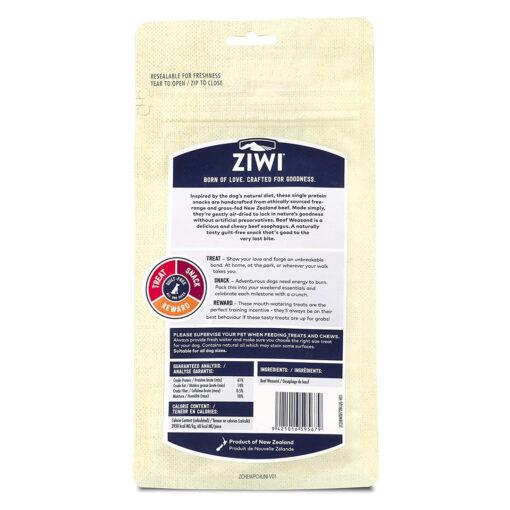 Ziwi Oral Health Air-Dried Beef Weasand Dog Chews 2.5oz back