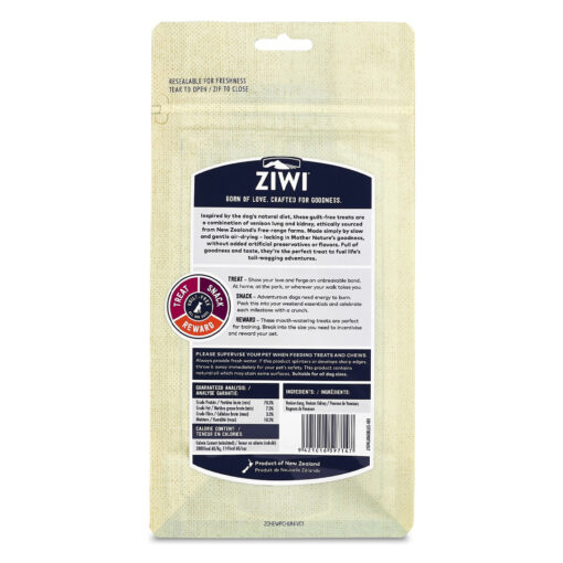 Ziwi Vension Lung & Kidney Dog Treats 2.1oz back