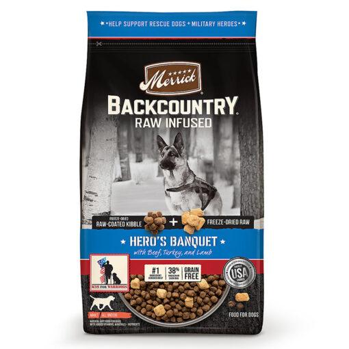 Merrick Backcountry Hero's Banquet Dog Food 20LB
