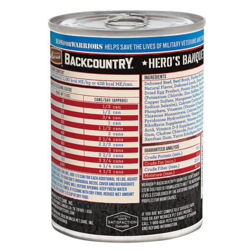 Merrick Backcountry Hero's Banquet Stew 12.7OZ back