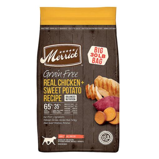 Merrick Real Chicken Sweet Potato Adult Dog Food 30LB