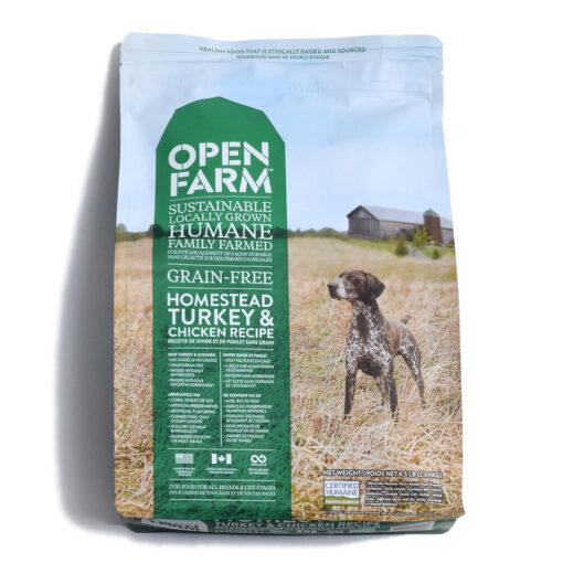 Open Farm Homestead Turkey Chicken Recipe Dry Dog Food 4.5 LB